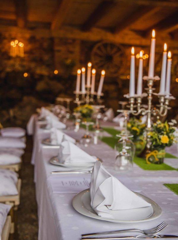 Hochzeitfseier Tisch